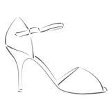 Сделанный эскиз к ботинок женщины s Стоковая Фотография