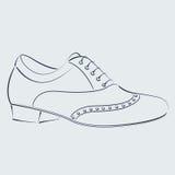 Сделанный эскиз к ботинок человека s Стоковые Фотографии RF