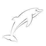 Сделанный эскиз к дельфин Стоковое Изображение