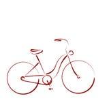Сделанный эскиз к женский велосипед Стоковые Изображения RF