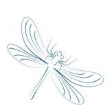 Сделанный эскиз к dragonfly Стоковое Изображение