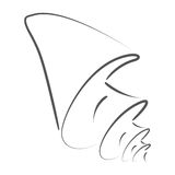 Сделанный эскиз к seashell Стоковые Изображения RF