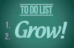 Сделать список вырастите, что дизайн иллюстрации концепции бесплатная иллюстрация