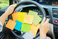 Сделать список в автомобиле Стоковые Фотографии RF