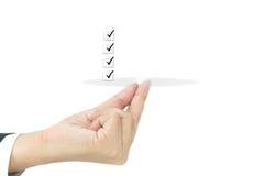 Сделать список на пальце Стоковые Изображения RF