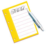Сделать список Стоковое Изображение