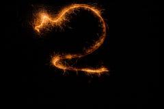 2 сделал бенгальских огней на черноте Стоковая Фотография RF