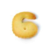 6 сделал из изолированного печенья шутихи на белой предпосылке Стоковые Фото
