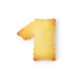 1 сделал из изолированного печенья шутихи на белой предпосылке Стоковое Фото