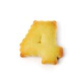 4 сделал из изолированного печенья шутихи на белой предпосылке Стоковое фото RF