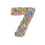 7 сделал от бабочки Стоковая Фотография