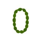 0 сделал от зеленых листьев Стоковые Изображения RF