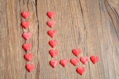 14 сделало из sugarcoated конфеты формы сердца Стоковое Изображение RF