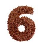 6 сделал с льняным семенем также как изолированное льняное семя Стоковая Фотография RF
