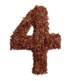 4 сделал с льняным семенем также как изолированное льняное семя Стоковая Фотография