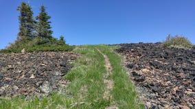 След верхней части горы Стоковые Изображения RF
