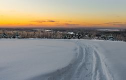 След в снеге Стоковое Изображение RF