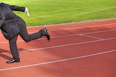 след гонки бизнесмена идущий Стоковое Фото