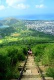 След головы Koko, Гаваи стоковое изображение rf