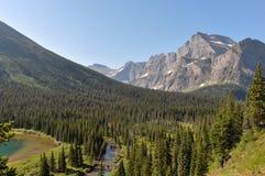 След ледника Grinnel, национальный парк ледника, Монтана, США Стоковые Изображения