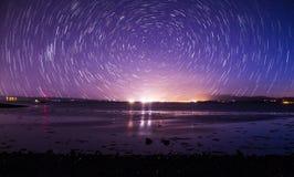 След звезды над пляжем Стоковое Изображение RF