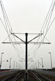 След кабеля и дороги неба трамвая Стоковое Изображение