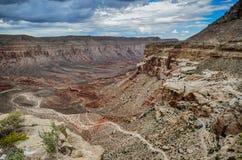 След каньона Hualapai - гранд-каньон западный стоковые изображения