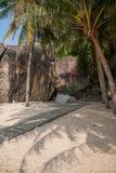 След кокоса Lingshui острова границы Стоковая Фотография