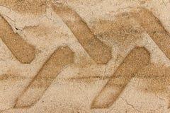 След колеса на земле песка Стоковая Фотография RF