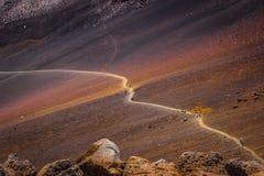 След кратера Haleakala Стоковые Фотографии RF