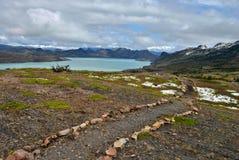 След к озеру Nordenskjöld Стоковая Фотография RF