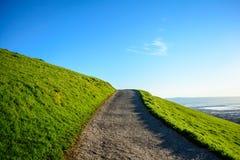 След на зеленой горе весной Стоковое фото RF