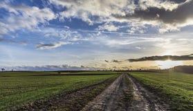 След над полями в сельской местности Стоковые Изображения