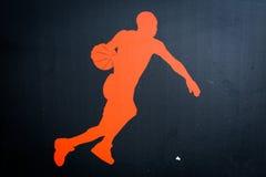 След ноги баскетболиста Стоковые Изображения