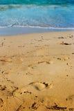 След ноги в песке Стоковая Фотография RF