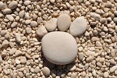 След ноги от камушков Стоковая Фотография RF