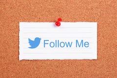 Следовать мной Стоковое Изображение