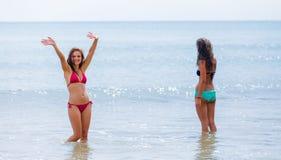 Следовать нами в воде! Стоковая Фотография RF