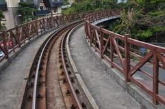след поля глубины железнодорожный отмелый Стоковое Изображение
