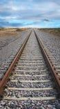 след поля глубины железнодорожный отмелый Стоковые Изображения RF