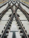 след поля глубины железнодорожный отмелый Стоковое Фото