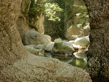 След приключения в ущелье Caccaviola Стоковое Изображение
