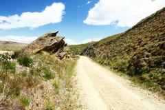 След рельса Otago центральный, Новая Зеландия Стоковые Изображения RF