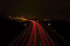 След светов автомобиля Стоковое фото RF