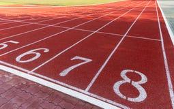 След спортсмена или идущий след с 6 до 8 Стоковые Изображения