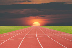 След спортсмена или идущий след Стоковое фото RF