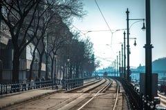 След трамвая в Будапеште Стоковая Фотография