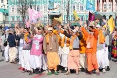 Следующие Krishna зайцев Стоковая Фотография RF