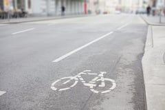 След улицы велосипеда Стоковые Изображения RF