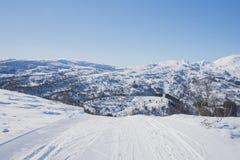 След лыжи к краю стоковые изображения